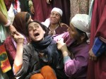 01-6-2006-  Relative women wailing over the death of a Kashm