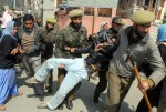 08-03-08-Indian police used brute force to disperse the STRC