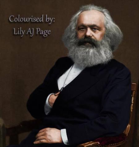 Marx a photo
